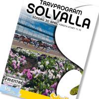 Solvalla banprogram 30 April 2017