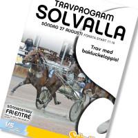 Solvalla banprogram 27 Augusti 2017